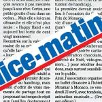 on parle de nous dans le journal de Nice matin