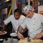 Show cooking au Miramar de monaco pour la soirée annivesaire de l'association Happy hand