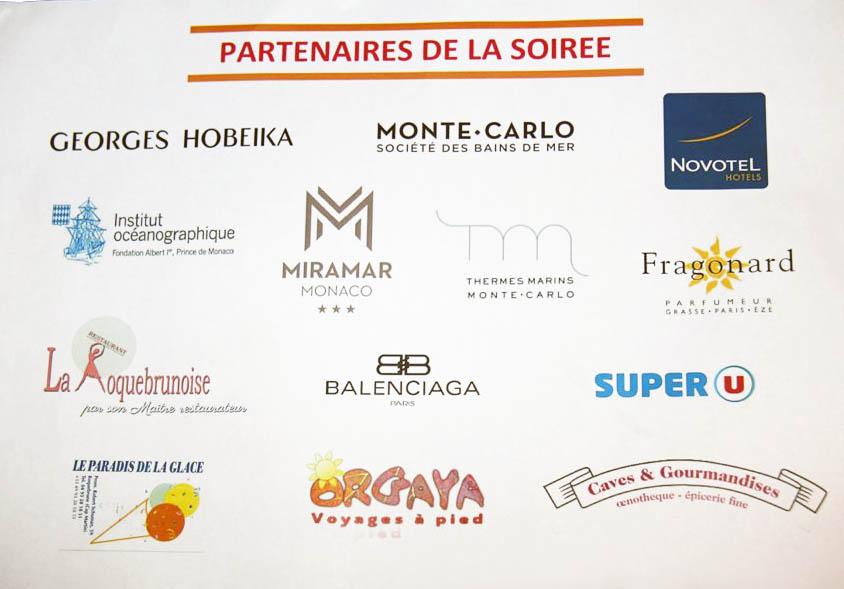 Tous les généreux sponsors participants à la réussite de la soirée anniversaire de HAPPY HAND