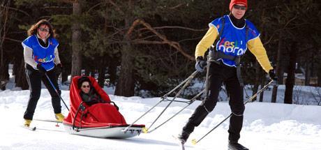 Pulka le ski nordique pour personnes en situation de handicap