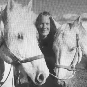 Equithérapeute et ses chevaux